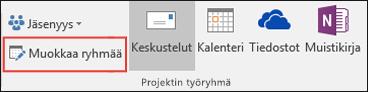 Ryhmän muokkaaminen Outlook 2016:ssa