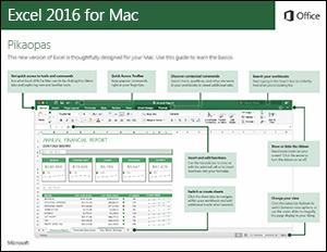 Excel 2016 for Macin pikaopas