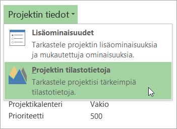 Projektin tietoasetukset