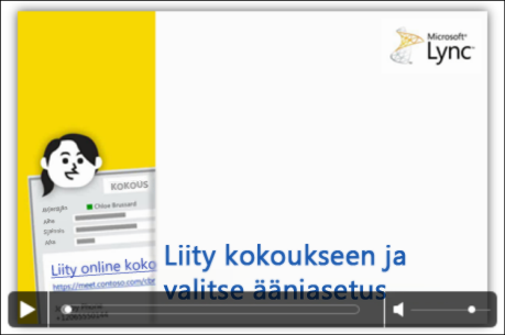 Näyttökuva PowerPoint-diasta, jossa näkyy videon hallintatoiminnot