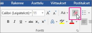 Tekstin kaikkien muotoilujen poistaminen - Office-tuki
