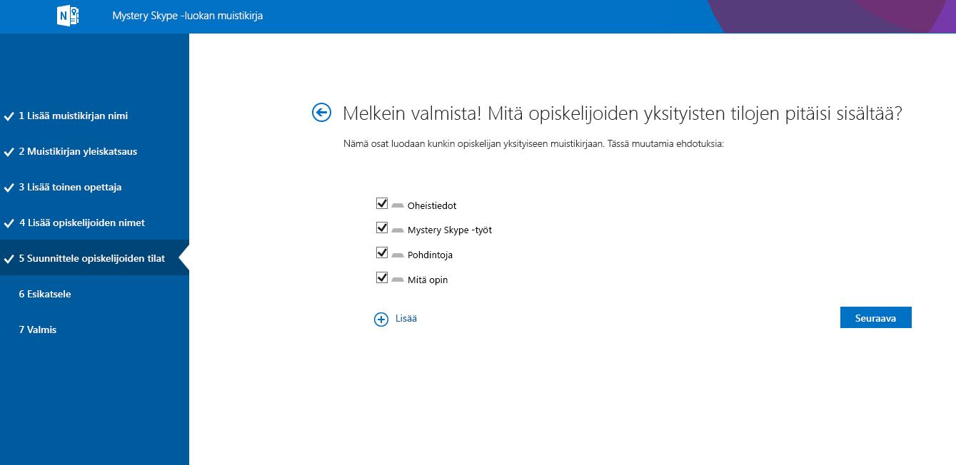 Suunnittele tiloja Mystery Skypessä