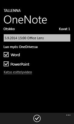 Lähetä OneDrivesta kuvia Wordiin ja PowerPointiin