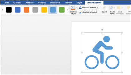 Tyyli valikoima, jossa on vaalea sininen tyyli, jota käytetään polku pyörän grafiikassa