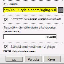 Liitetty XSL-tiedoston linkki