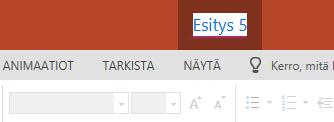 Napsauta selain ikkunan yläreunassa olevan otsikko rivin keskellä olevaa tiedosto nimeä.