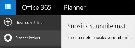 Valitse Plannerissa Uusi suunnittelu.