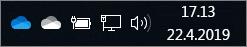 OneDrive-synkronointisovellus ja sininen ja valkoinen pilvikuvake