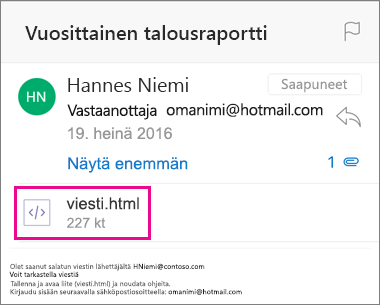 OME Viewer Outlookille iOS 1:lle