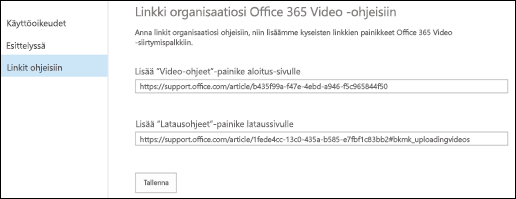 Office 365 Video -ohjeet