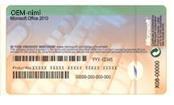 Tietokoneen valmistajalta saatu Certificate of Authenticity -aitoustodistus, joka sisältää tuoteavaimen