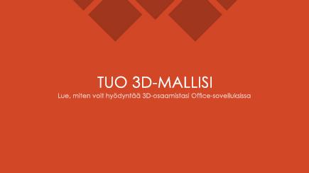 Näyttökuva kolmiulotteisen PowerPoint-mallin diasta