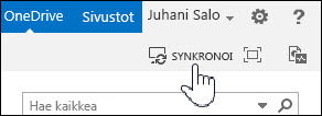 Synkronoi OneDrive for Business SharePoint 2013:ssa