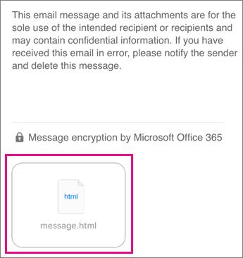 OME Viewer iOS Mail -sähköpostisovellukselle 1