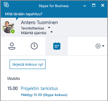 skype for businessin windows version pika aloitusopas skype for business. Black Bedroom Furniture Sets. Home Design Ideas