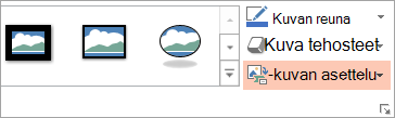 PowerPointin Muotoile-välilehden asettelu-painike