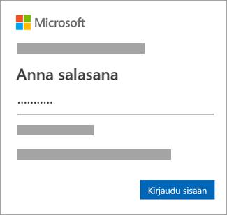 Kirjoita salasanasi.
