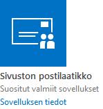 Sivuston postilaatikko -sovellus