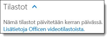 Office 365 Videon Tilastot