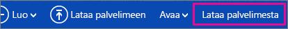OneDrive-valikko - Lataa-painike