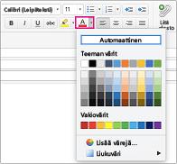 Fontin värin valitsin Outlook for Macissa