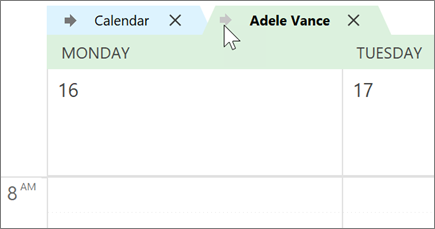 Outlookin kalenterit overlayed