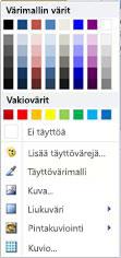 WordArt-muodon täyttöasetukset Publisher 2010:ssä