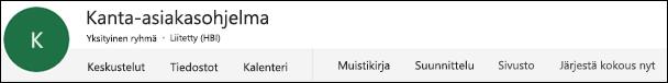 Office 365 -ryhmän otsikko