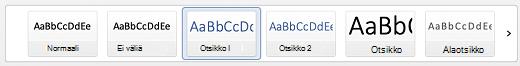 Otsikkotyylit Word for Macissa.