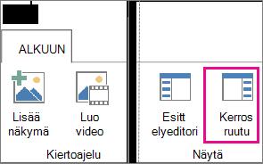Power Mapin Aloitus-välilehden Kerrosruutu-painike