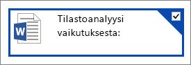 OneDrivessa valittu tiedosto