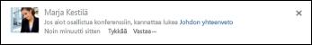 SharePoint-tiedostoon viittaavan linkin sisältävä uutissyötteen viesti