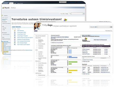 SharePoint Designer 2010:llä luotavia sivustoja