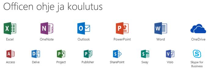 Microsoft Officen tuki vaihtoehdot