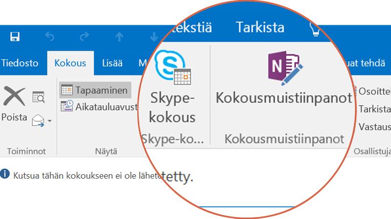 Yhteistyö Skypessä ja OneNotessa