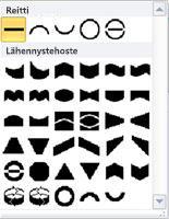 WordArt-muotojen muuttamisasetukset Publisher 2010:ssä