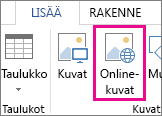 Online-kuvat-painike