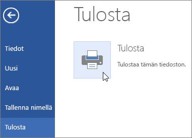 Word Onlinen Tulosta PDF-tiedostoon -painike