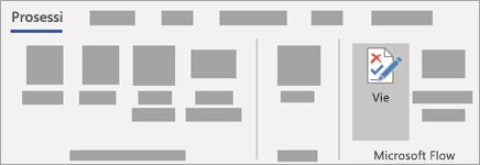 Valitse prosessi-väli lehdestä vie Microsoft Flow-ryhmässä.