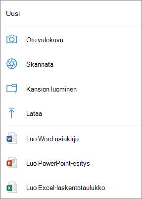 Lataa OneDriveen