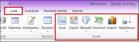 Outlook 2010: Lisää kuva