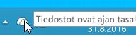 Näyttökuva valkoisesta OneDrive-kuvakkeesta Windows 8.1:ssä.