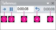 näyttää PowerPointin tallennuksen ajastukset -ruudun