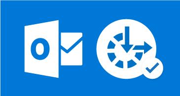Outlook-kuvake ja helppokäyttötoimintojen symboli