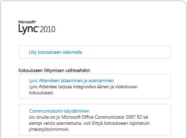 Lync 2010 - Liity kokoukseen -kuva