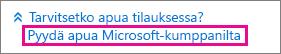 Valitse Hanki apua Microsoft-kumppanilta