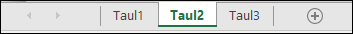 Excel-ikkunan alareunassa taulukonvalitsimet