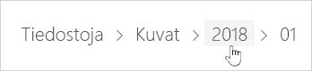 OneDrive-kansion valitseminen