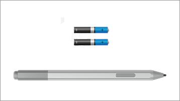 Surface-kynä ja akut