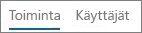 Näyttökuva Toiminta-näkymästä Office 365:n Yammerin toimintaraportissa